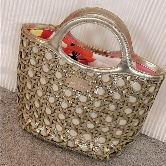 KATE SPADE trendy gold tote